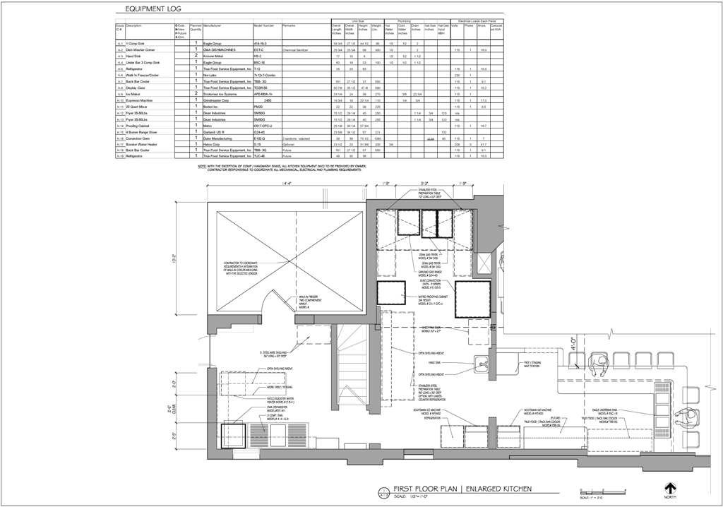 Restaurant Kitchen Blueprint commercial kitchen for a bakery retrofitted into an existing