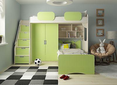 Etagenbett Geko grün Hochbett Kinderbett