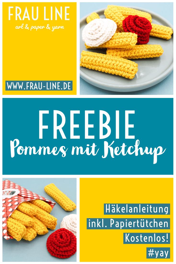 Photo of Kostenlose Häkelanleitung: Pommes Frites mit Ketchup (einschließlich Papiertüten) – Ms. Line