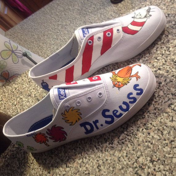 451e98384708e Dr Suess Painted Shoes by TheKickShop on Etsy | Shoes | Painted ...