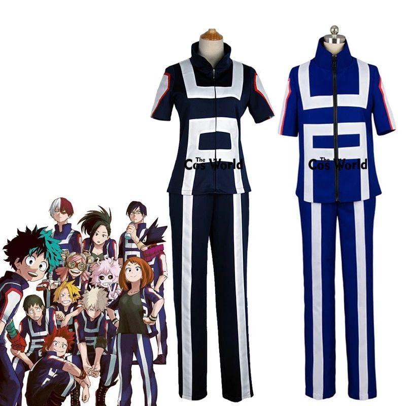 Boku no Hero My Hero Academia Bakugo Izuku gym sport uniform cosplay costume
