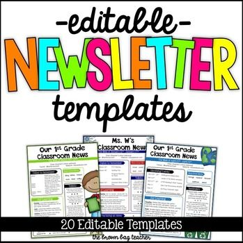 Editable Newsletter Templates  Newspaper Template And Newsletter