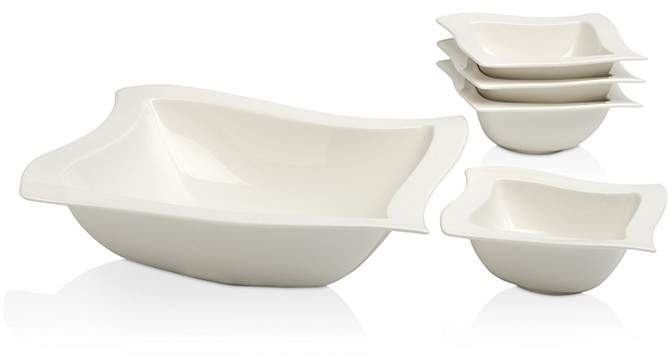 Villeroy Boch New Wave 5 Piece Salad Bowl Set Salad Ad Bowl Set