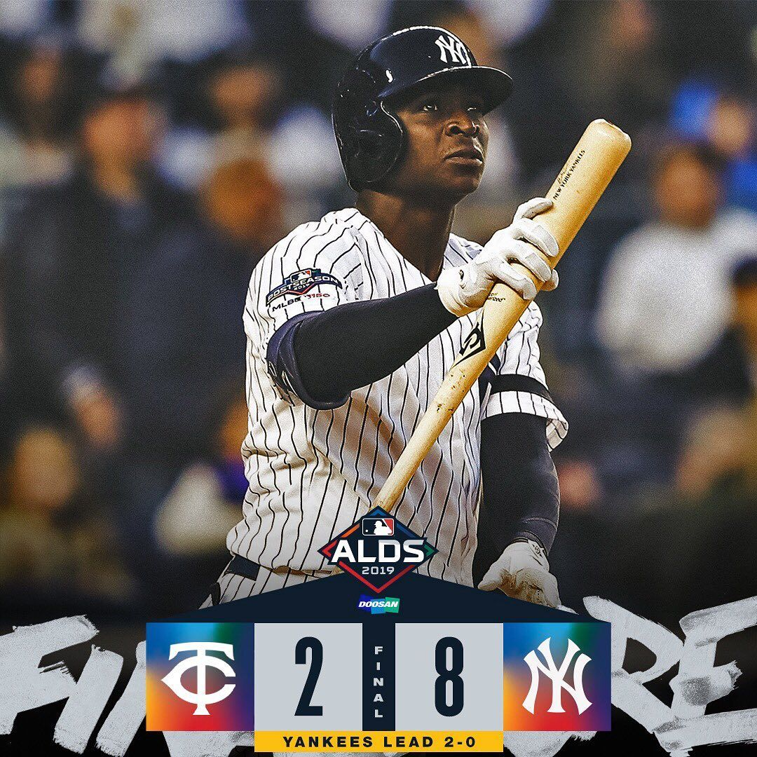 Mlb Stop If You Ve Heard This Before The Yankees Are Up 2 0 Heading To Minnesota Baseball Big4 Bigfour Big4 Bigfour Yankees Minnesota Mlb