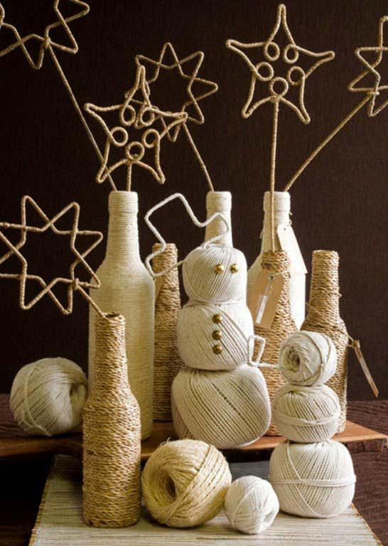 Several Diy Christmas Decorating Ideas Yarn Crafts Pinterest