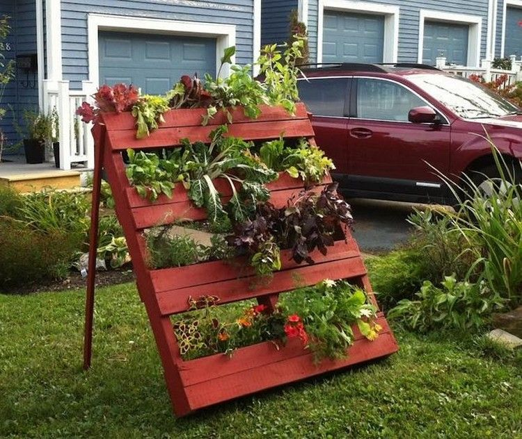 garden pallet verticle garden - Garden Ideas With Pallets