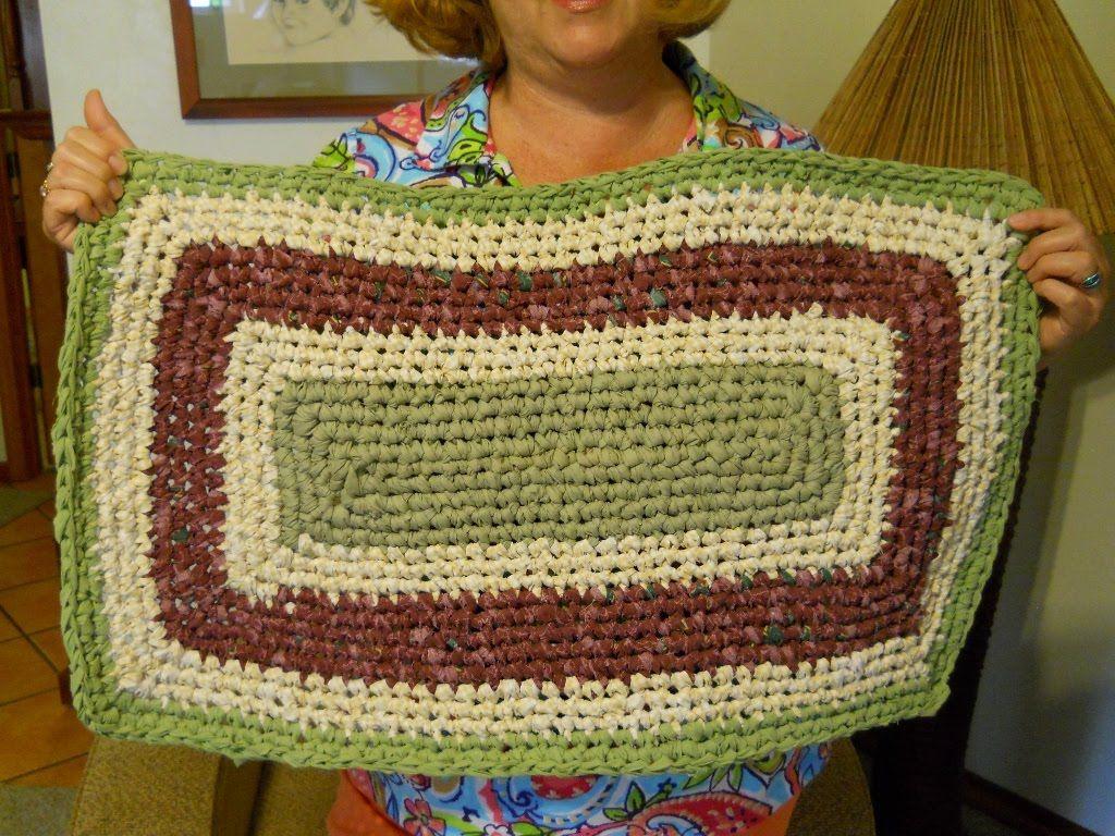Crochet Rectangle Rag Rug Tutorial Part 2 Crochet Rug Patterns Crochet Rag Rug Rag Rug Tutorial