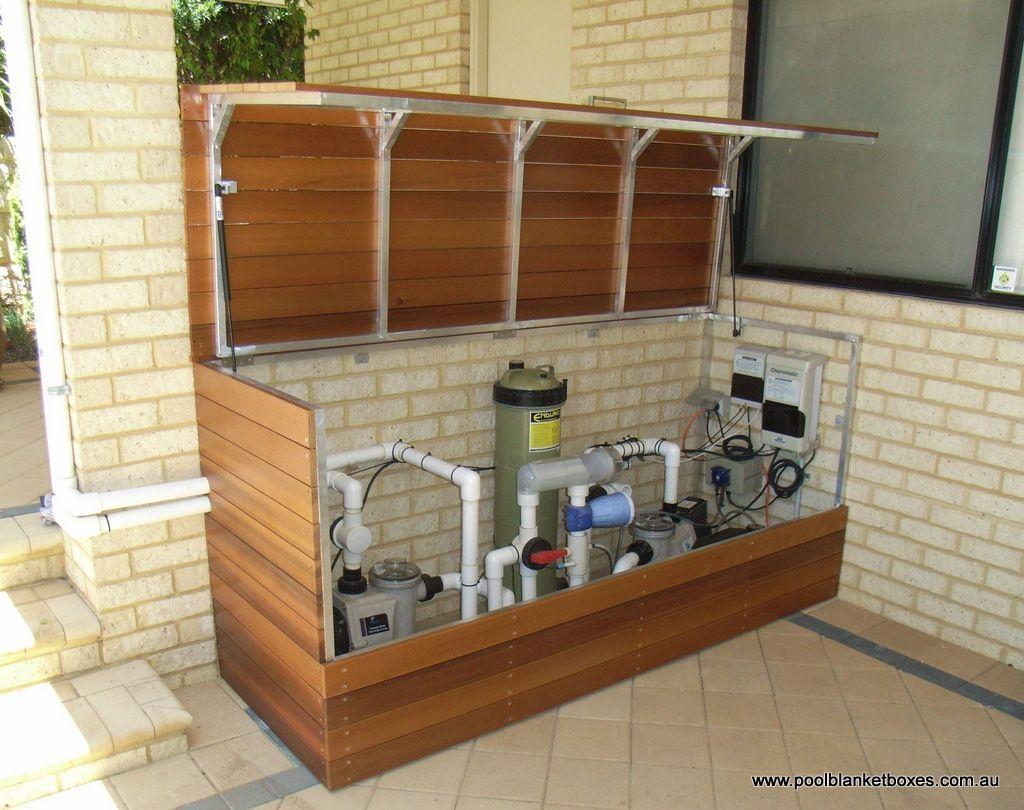 Filter Enclosures Pool Blanket Boxes Australia Decoration Piscine Local Piscine