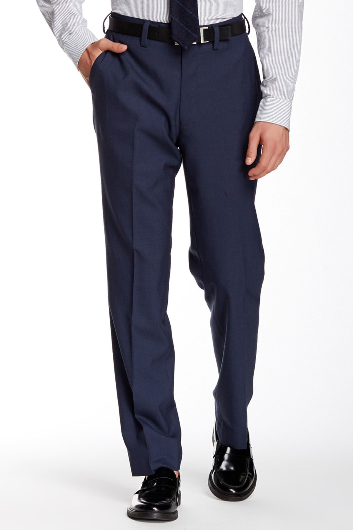 Try our NEW poly/wool hidden comfort modern fit pants. When both style and comfort matter, Louis Raphael is the clear choice.