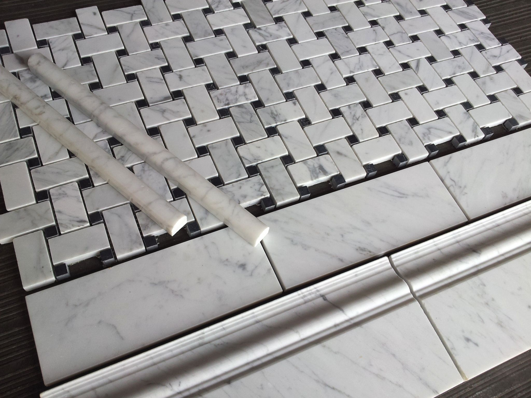 750 a square foot 3x8 subway tile honed from the italian marble 750 a square foot 3x8 subway tile honed from the italian marble collection bianco carrara dailygadgetfo Choice Image