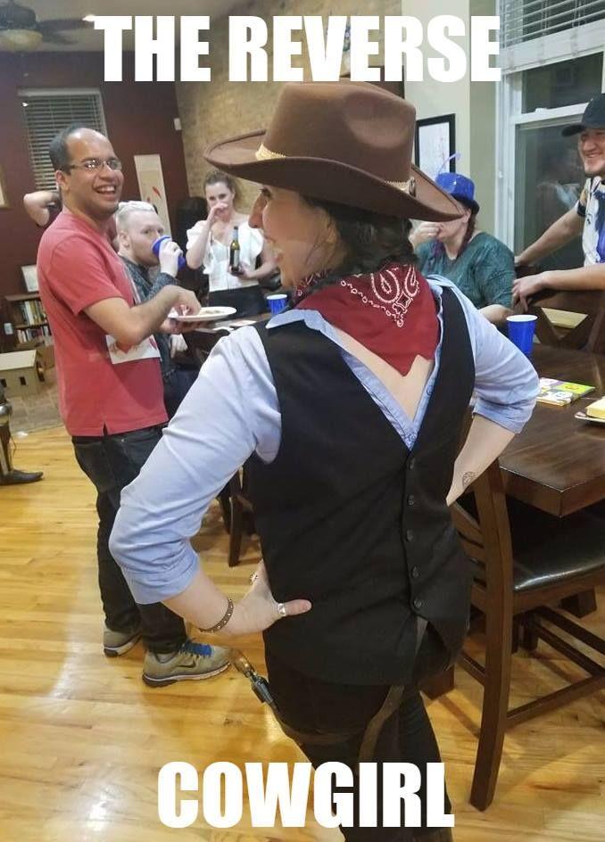 Reverse cowgirl costume