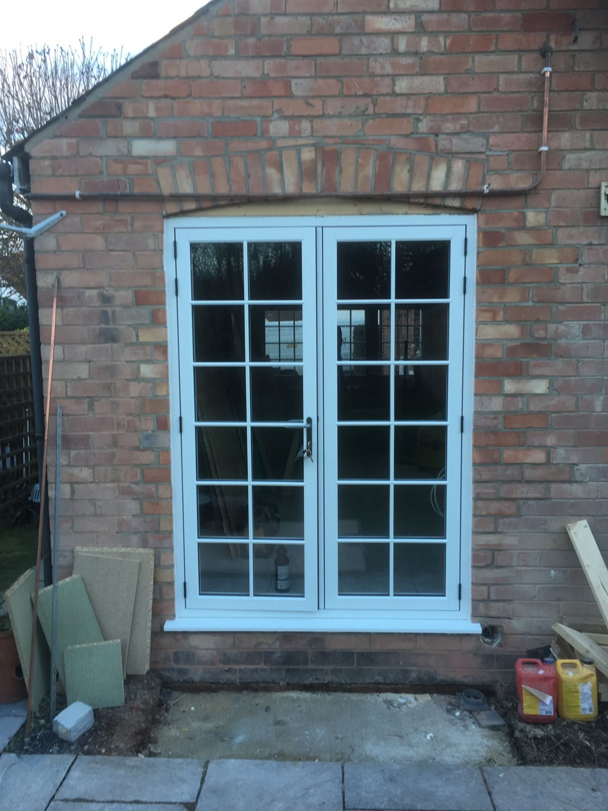 R9journey Flush Casement Windows And French Door In Clotted Creme A Rated Glazing As Standard With Satin Hardware In Windows Windows And Doors French Doors