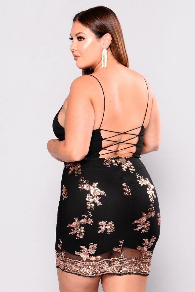 8bb76d1c35 Oh Darling Sequin Dress - Black Rose Gold