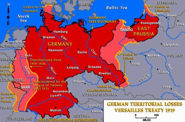 German Territorial Losses Versailles Treaty 1919google Image: Weimar Germany Map At Infoasik.co