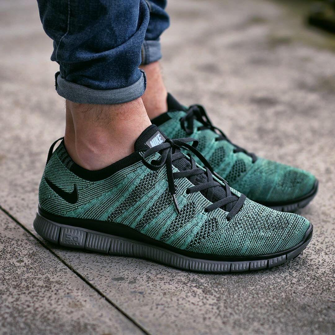 Nike Free Flyknit NSW 'Rough Green / Black' (via Kicks-daily.