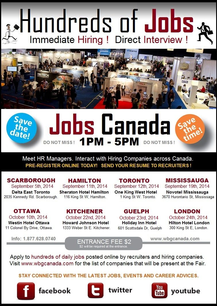 Events to put on your radar this fall. Do Not Miss Jobs Canada !