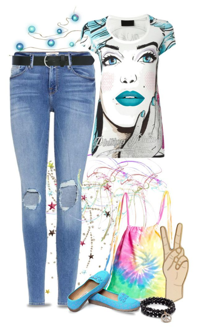"""""""Peace"""" by runners ❤ liked on Polyvore featuring Frame, Philipp Plein, Forever 21, Colortone, Lucky Brand, Saks Fifth Avenue and M&Co"""