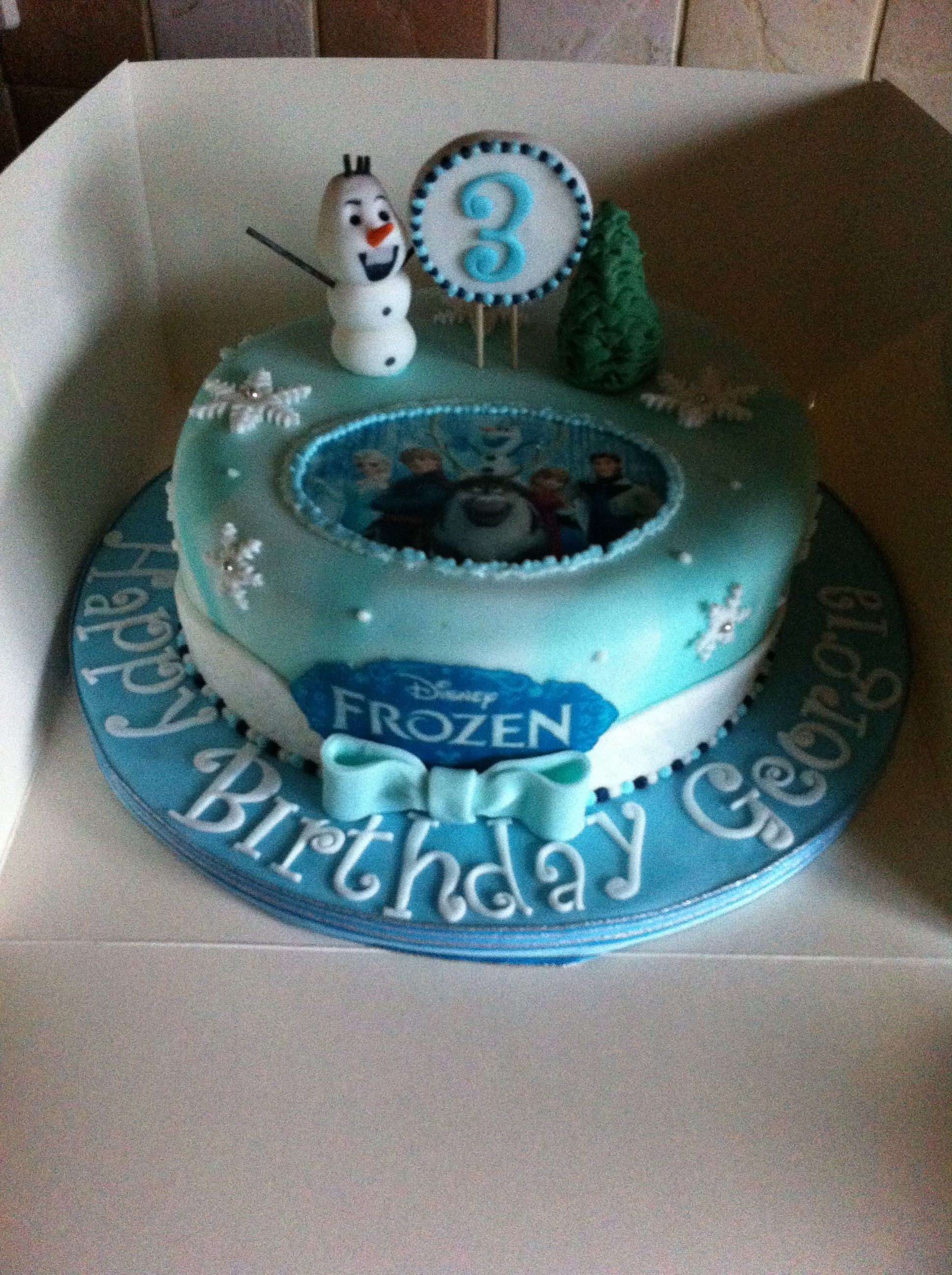 Frozen Single Tier Cake Cake