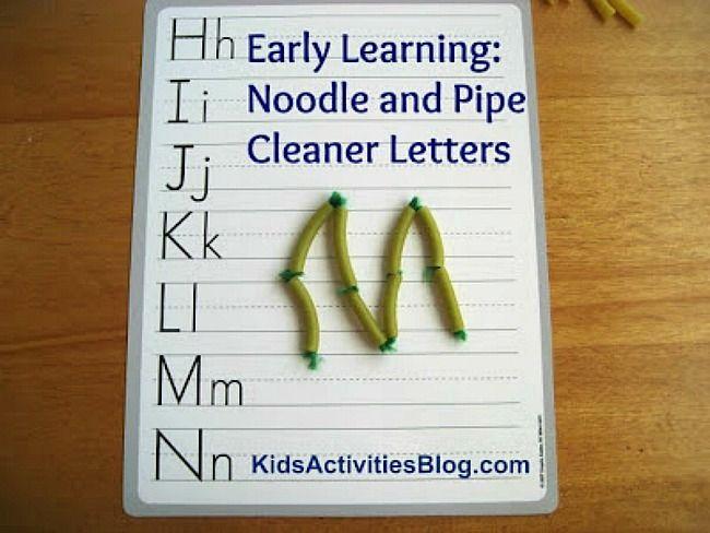 Alphabet Activity Using Noodles for ABC Formation & Alphabet Activity Using Noodles for ABC Formation | Noodle Form ...