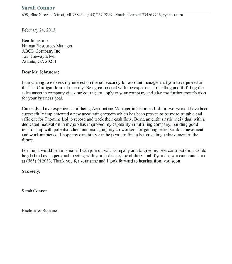 Sample Cover Letter For Audit Report Internal Auditor Cover ...