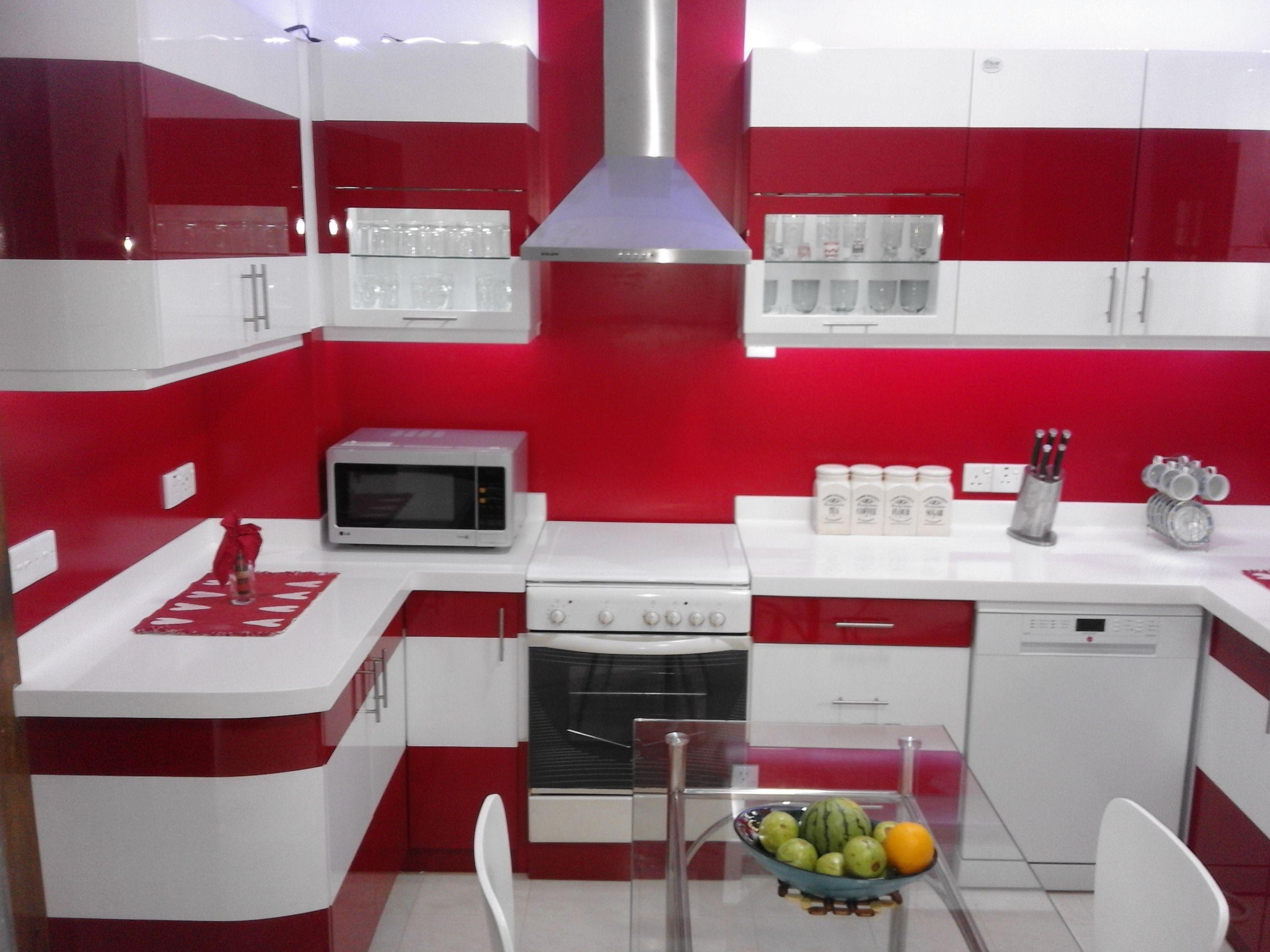 Red Color Fabulous Kitchen Design   Kitchen, Kitchen design ...