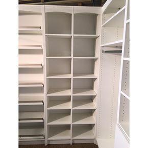 N K S Designs 14 In D X 32 In W X 84 In L Accessories Storage Freestanding White Melamine Wood Closet Storage Systems Closet Designs Hanging Closet Storage