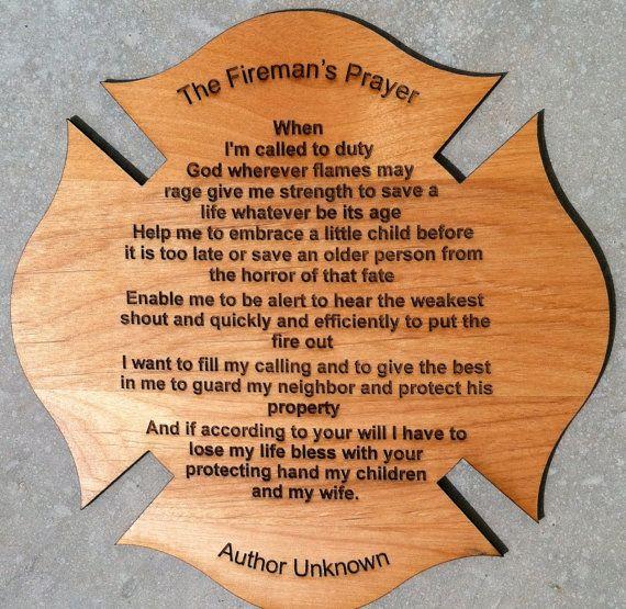 Fireman's Prayer Personalized Poem Gift For Firefighter | Christmas