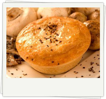 Pepper Steak Pie- Organic chunky steak with mushrooms, in ...