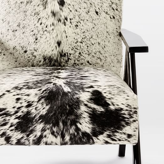 Brilliant Retro Cowhide Chair Black White Westelm Cowhide Chair Gmtry Best Dining Table And Chair Ideas Images Gmtryco