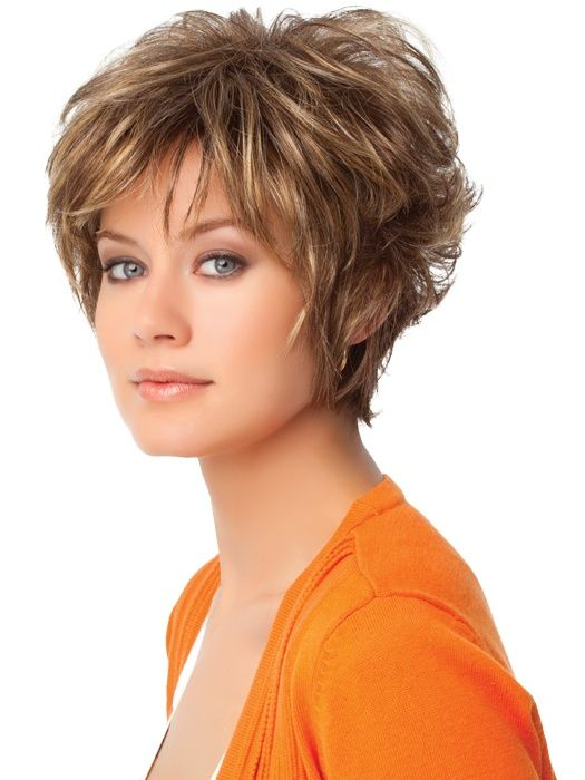 Short Layered Hairstyles For Womens  Thick curly hair Thick