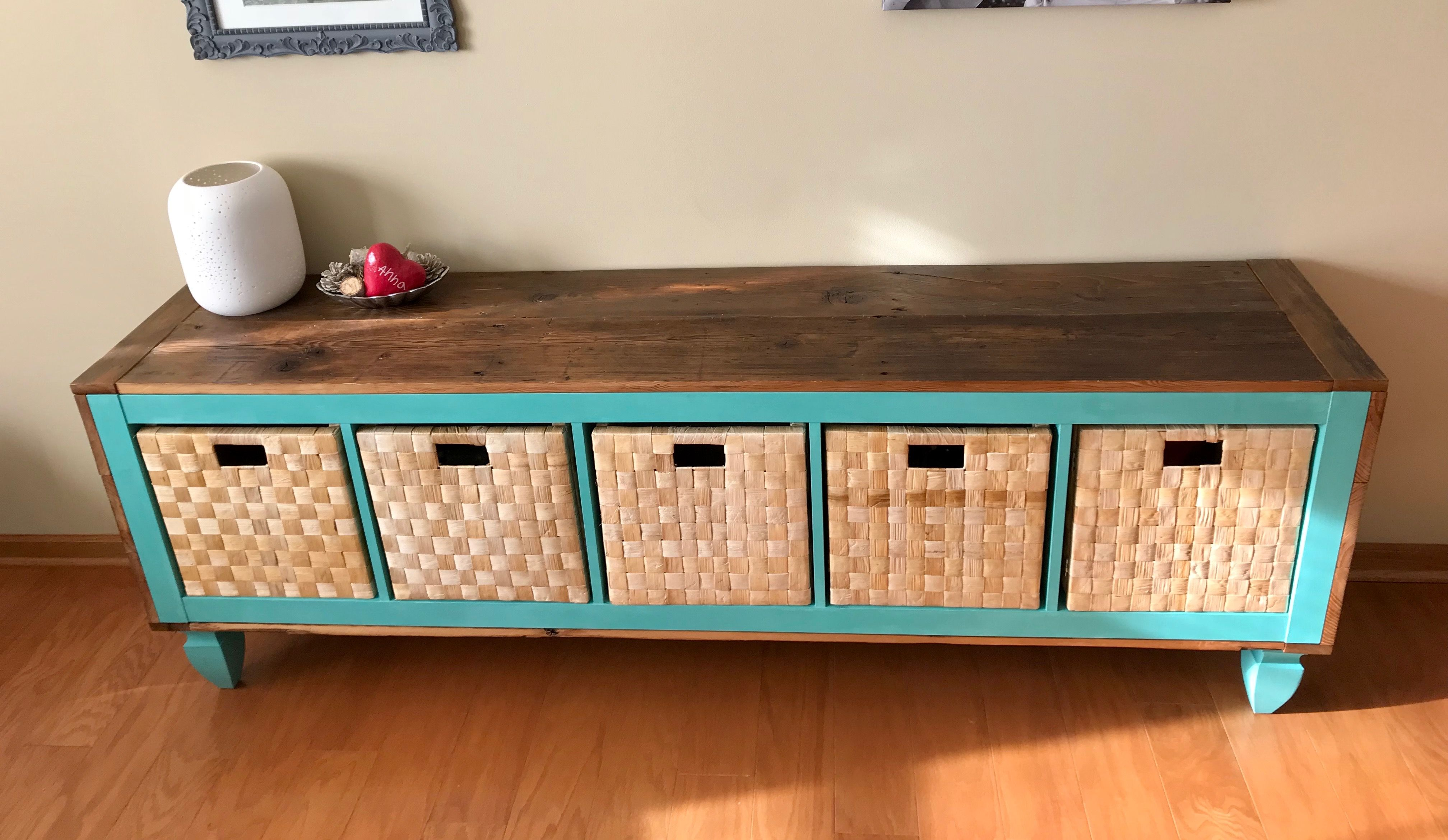 Ikea Expedit Chalk Paint Sideboard Reclaimed Wood Chalk Paint Legs Fence Post Legs