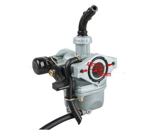 19mm Zinc Carburetor W Hand Choke Lever For 50cc 70 Cc 90cc 110 Cc 4 Stroke Atv Carb Dirt Bike Go Kart 8z444 50cc Go Kart Carburetor
