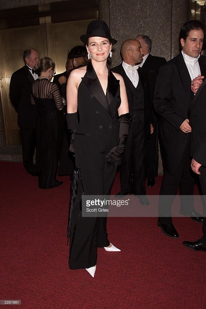 Juliet Binoche Arriving At The American Theatre Wing's