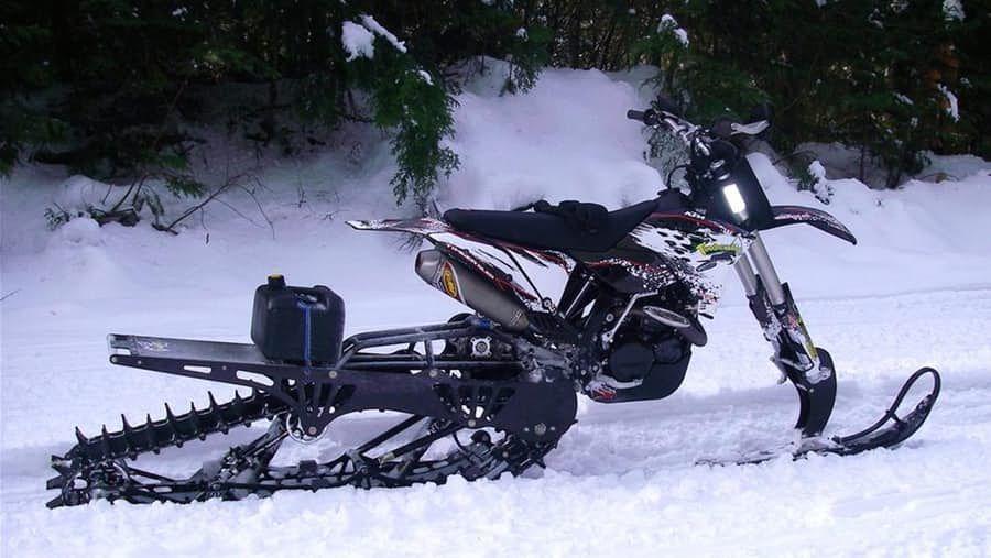 Timbersled S Mountain Horse Kit Converts Motorbikes Into Snow Machines Snowbike Bike Kit Bike