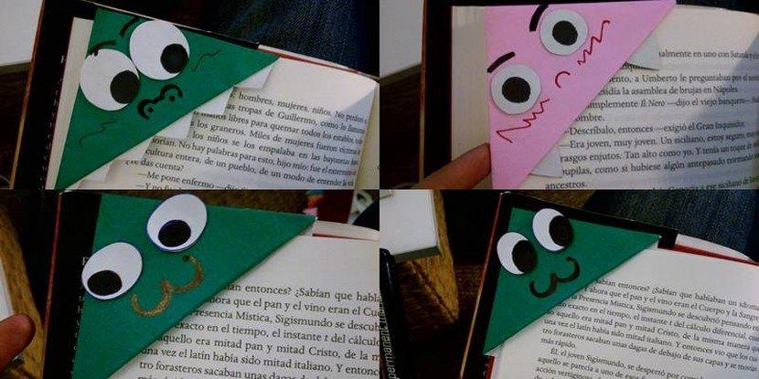 DIY: Divertidos puntos del libro hechos con papel - http://www.manualidadeson.com/diy-divertidos-puntos-del-libro-hechos-con-papel.html