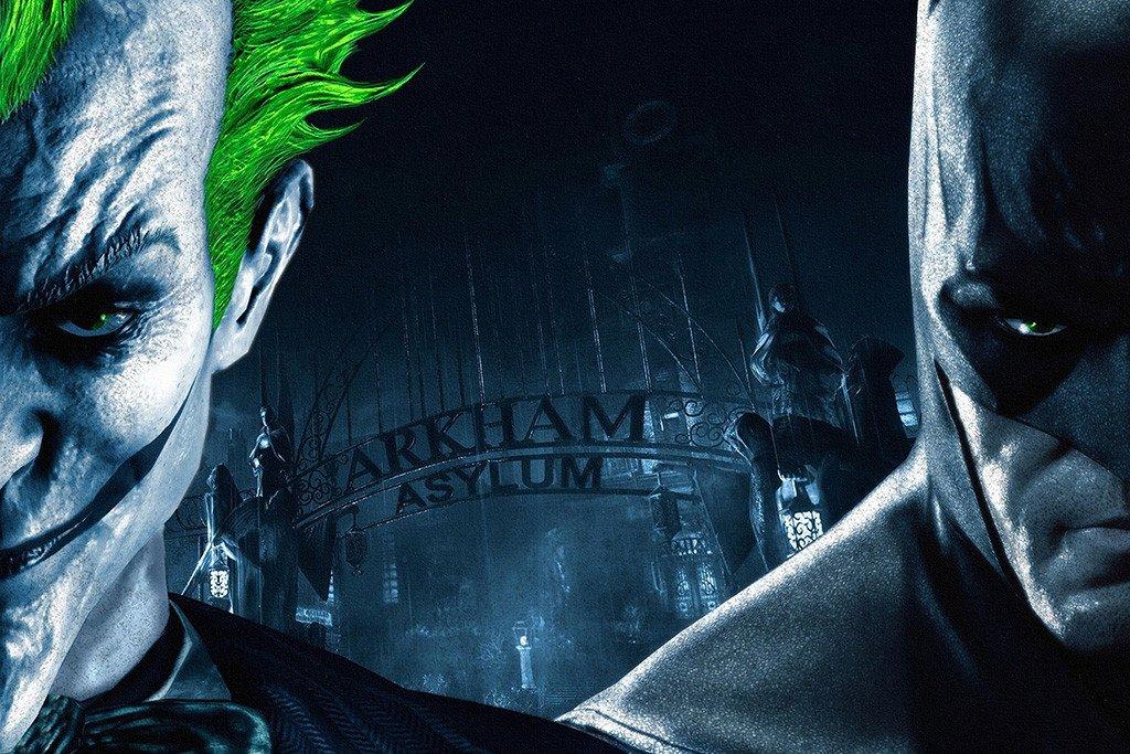 Arkham Asylum Batman Joker Poster Batman Joker Wallpaper Batman Arkham City Batman Arkham Asylum