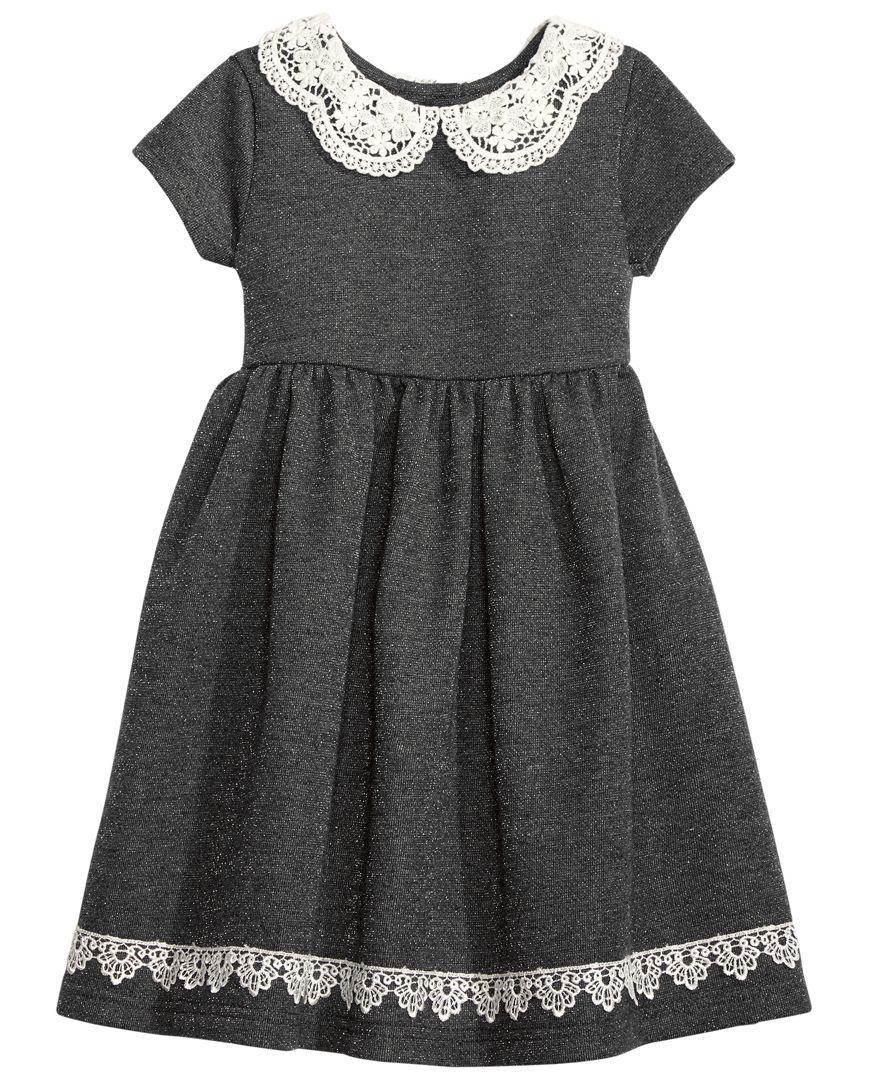 Blueberi Boulevard Peter Pan Collar Lace Trim Dress Toddler Little Girls 2t 6x Toddler Girl Dresses Girls Dress Shop Lace Trim Dress [ 1080 x 884 Pixel ]