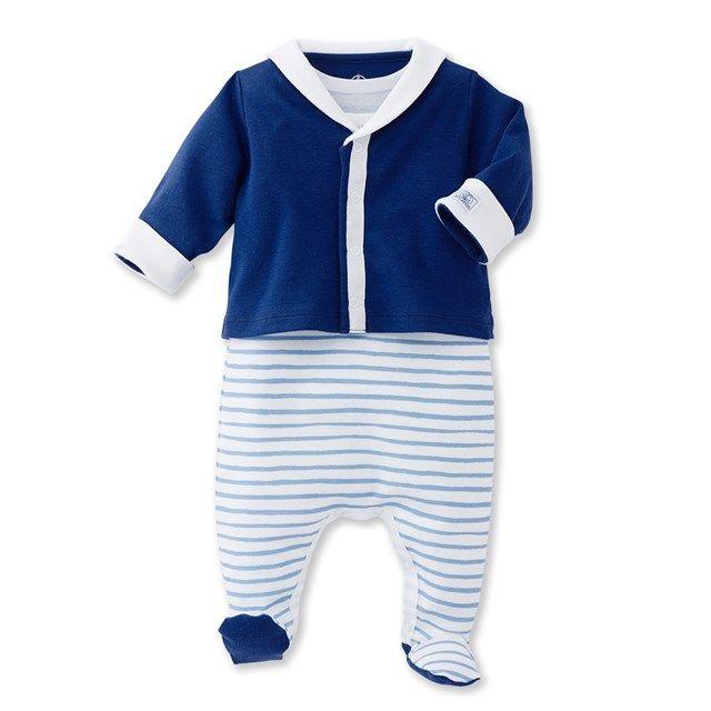 Petit Bateau Baby-Jungen Strickjacke