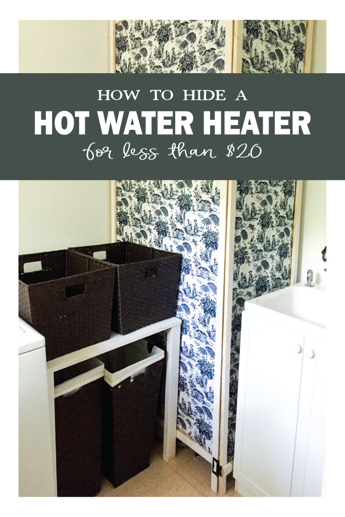 How to Hide a Hot water Heater for less than $20 | DIY screen