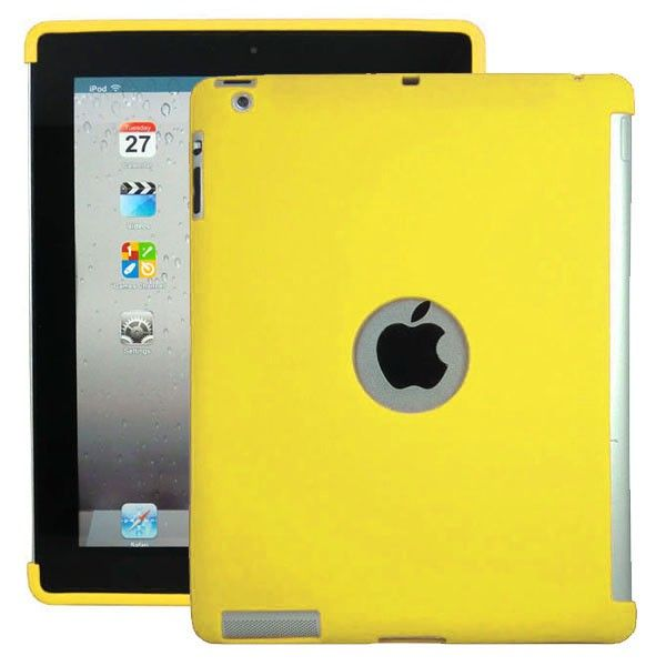 Soft Shell - Smart Cut (Keltainen) iPad 3 & 4 Silikonisuojus