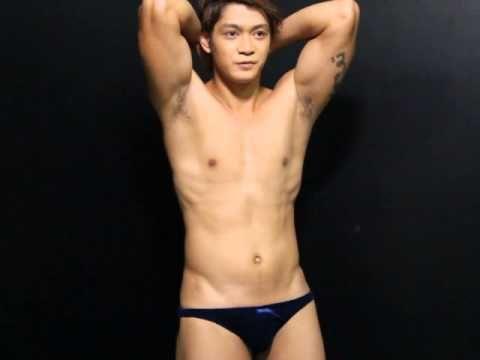 Bikini in male model