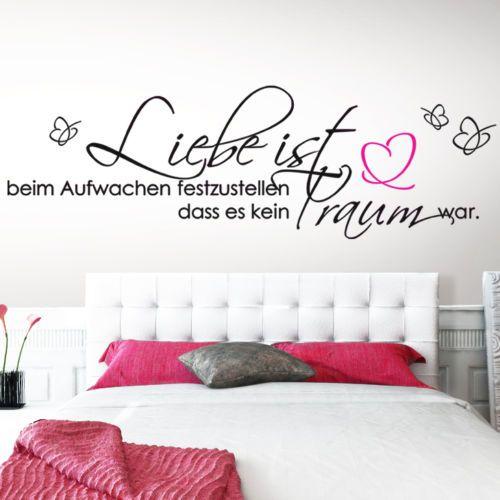 Details zu Wandtattoo Wandsticker Wandaufkleber Schlafzimmer Spruch ...