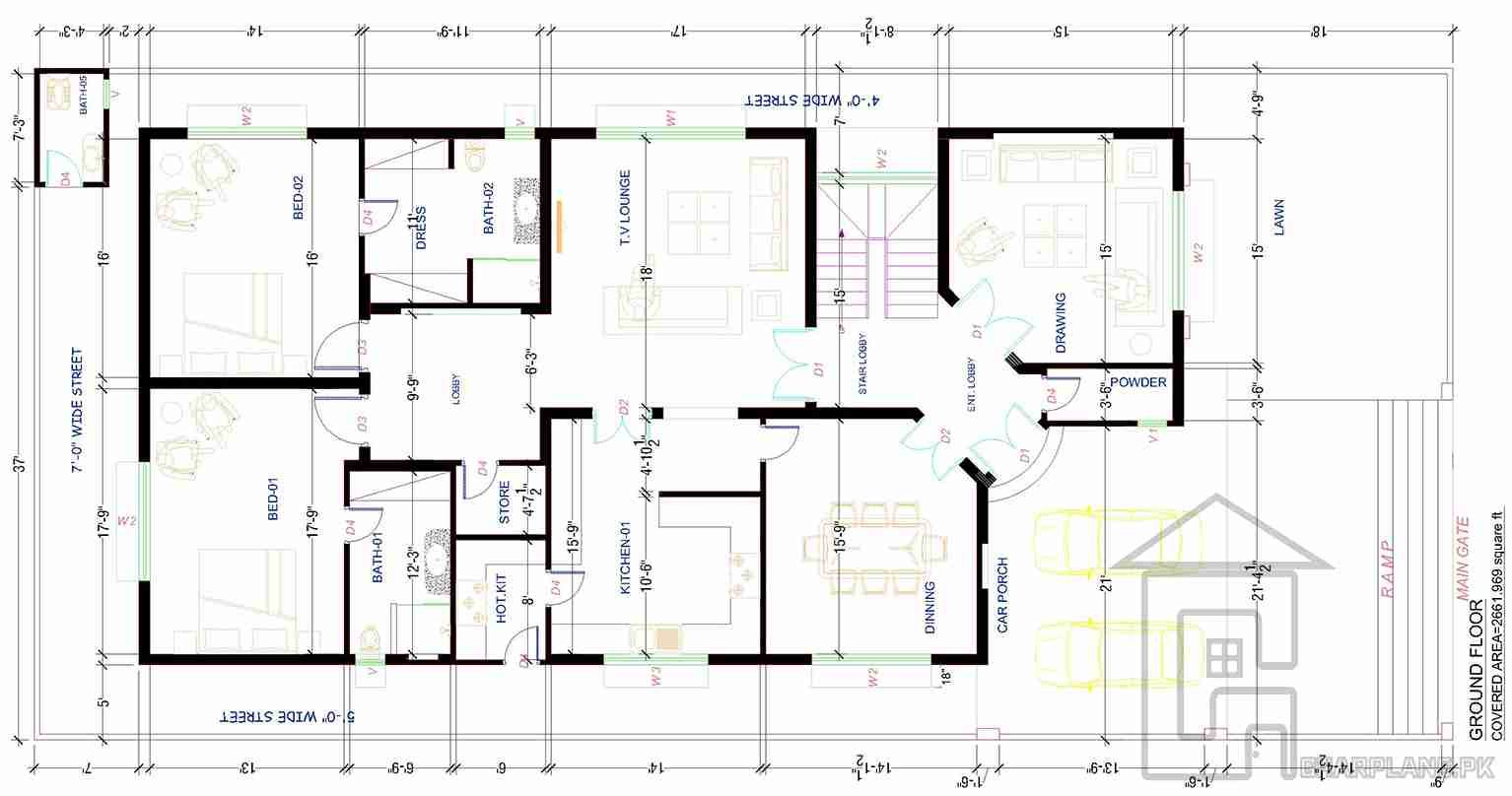 400 Sq Yard House Plans Ground Floor House Plans Building Plans