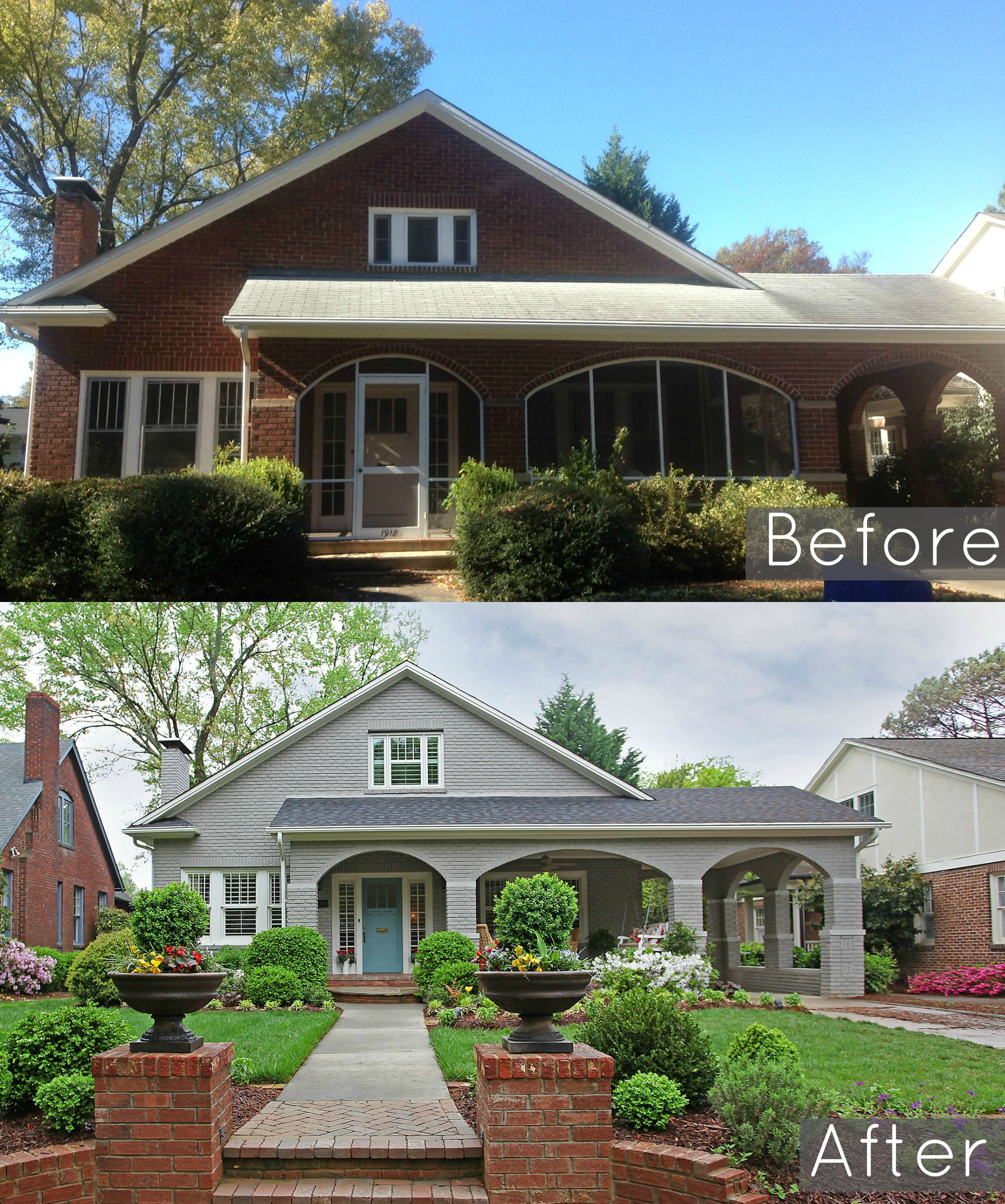 Before And After A Sweet Spanish Bungalow By The Beach Painted Brick