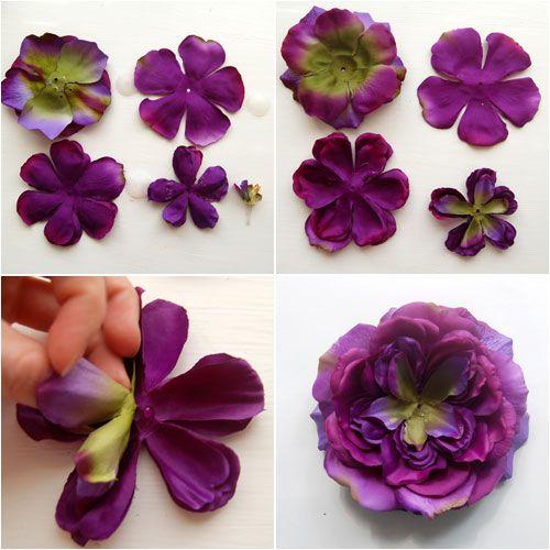 How To Make A Fabric Flower Brooch Via Make Making Fabric Flowers Fabric Flowers Fabric Flower Brooch