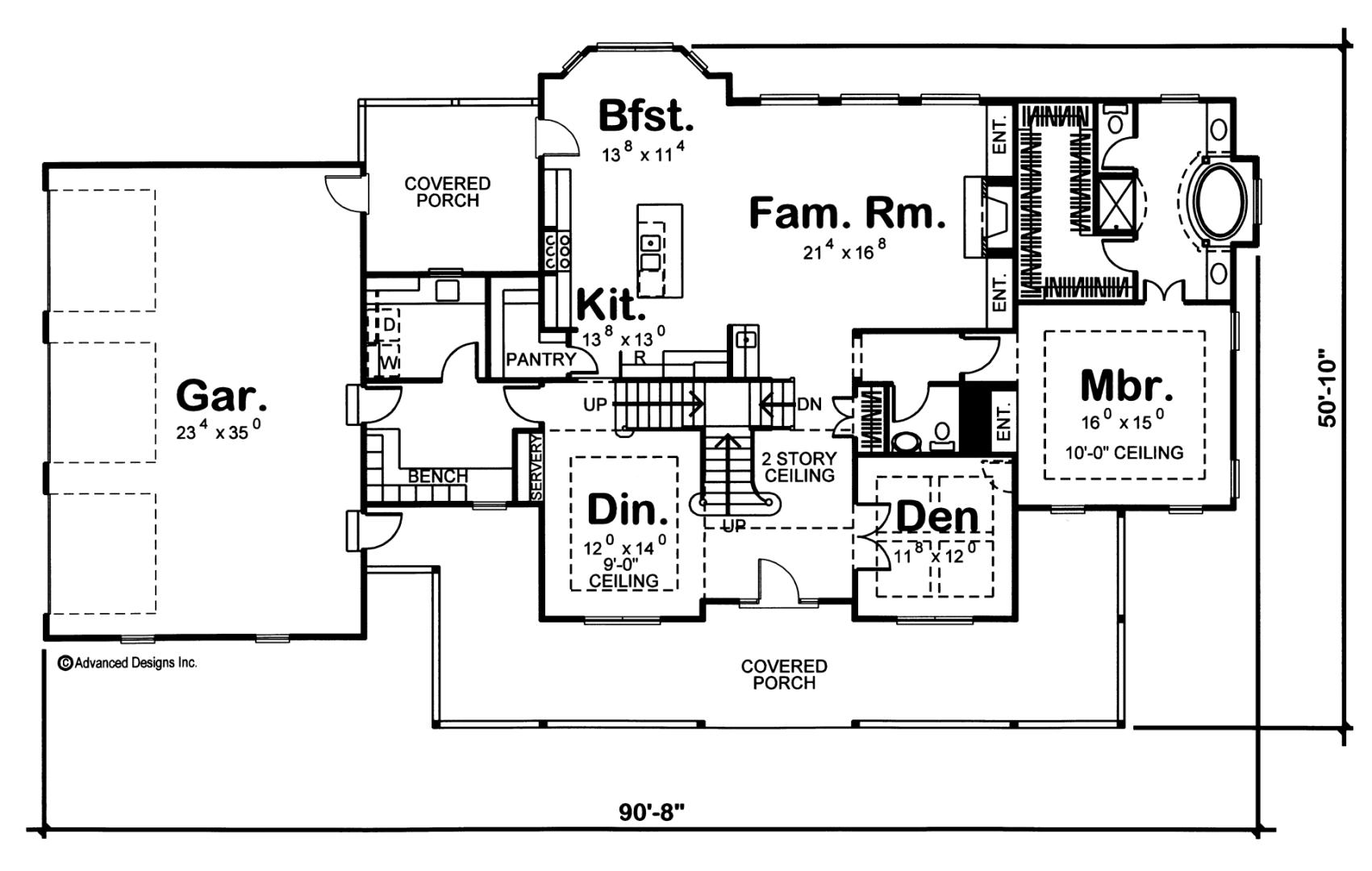 Strattfield 1 5 Story Modern Farmhouse House Plan