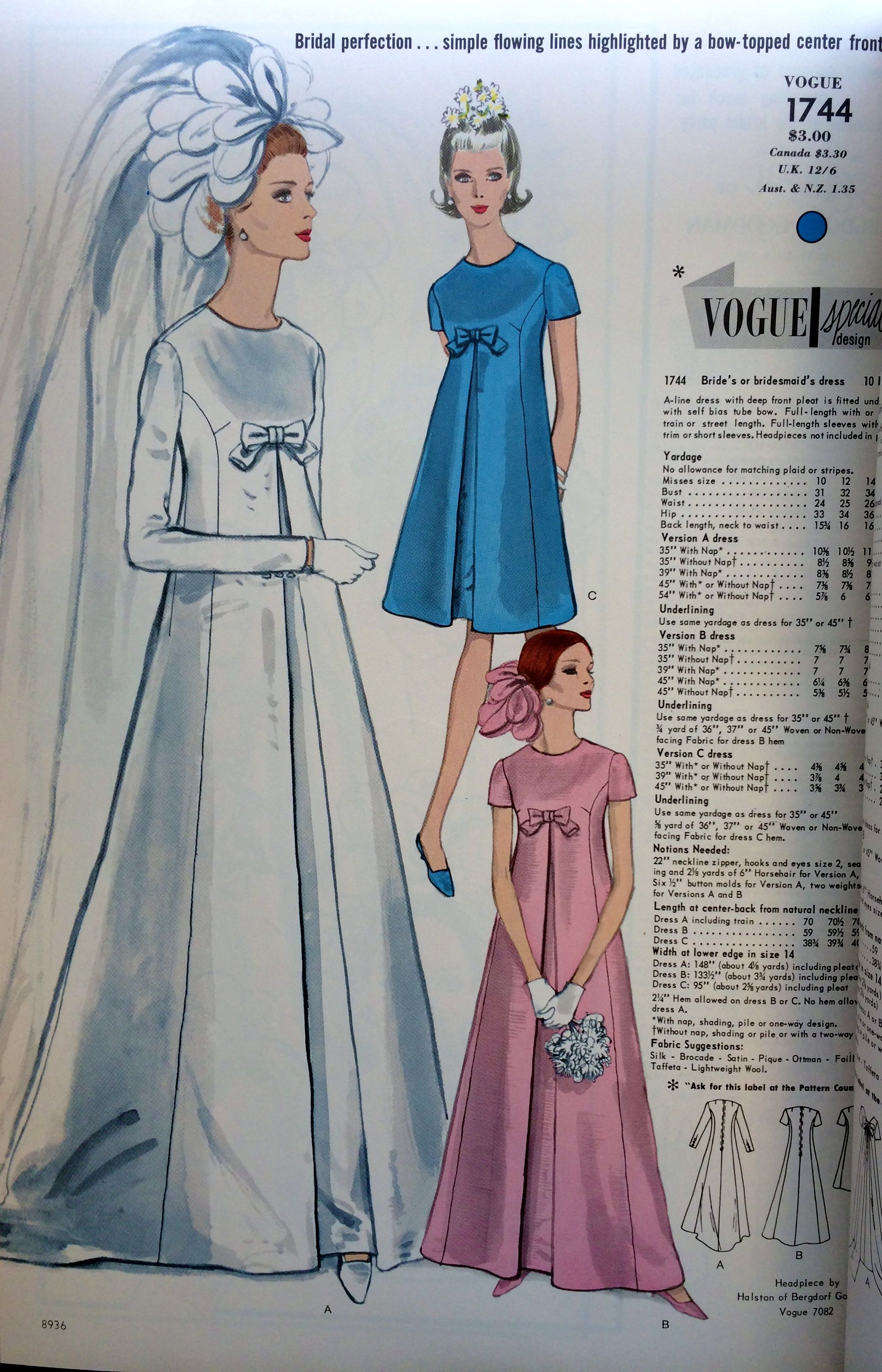 1960s Vintage Bridal Gown with Bow