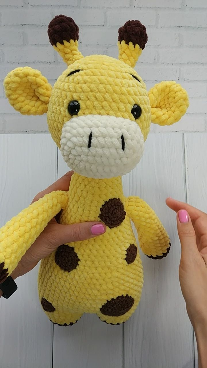 CROCHET GIRAFFE PATTERN -  Amigurumi Plush Giraffe pattern - Knit Stuffed Toys for baby - Crochet animal patterns #knittedtoys
