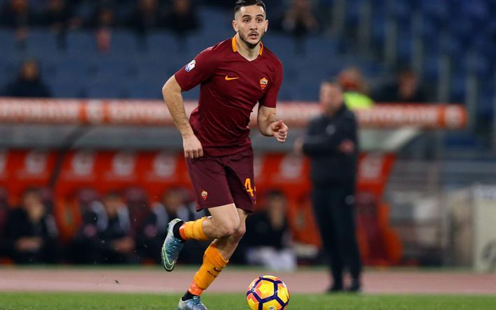 Lataa kuva Kostas Manolas, jalkapallo, AS Roma, jalkapalloilijat, Serie