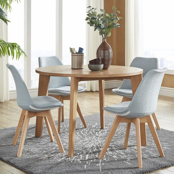 arlo round light oak 5 piece dining set by inspire q modern beauty rh pinterest com